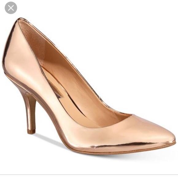 Inc Rose Gold Closed Toe Heels